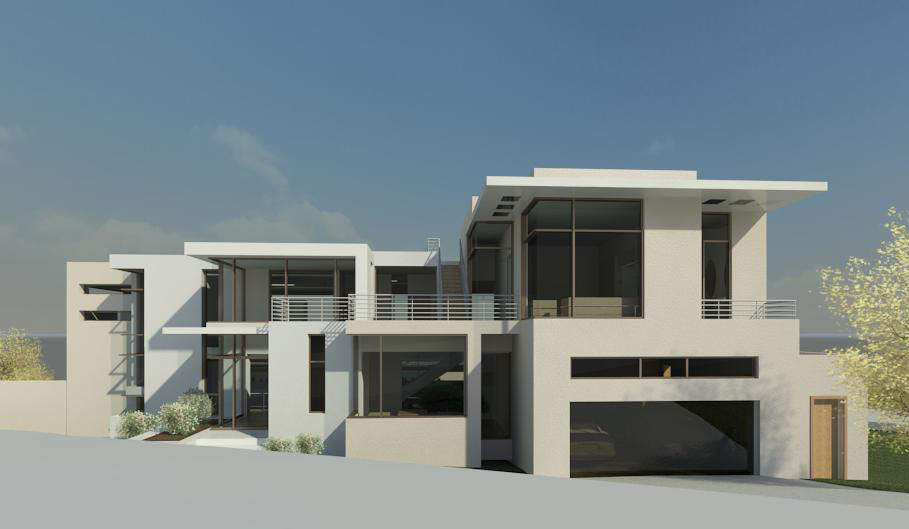 Kyalami (house design) street perspective, by Essar design